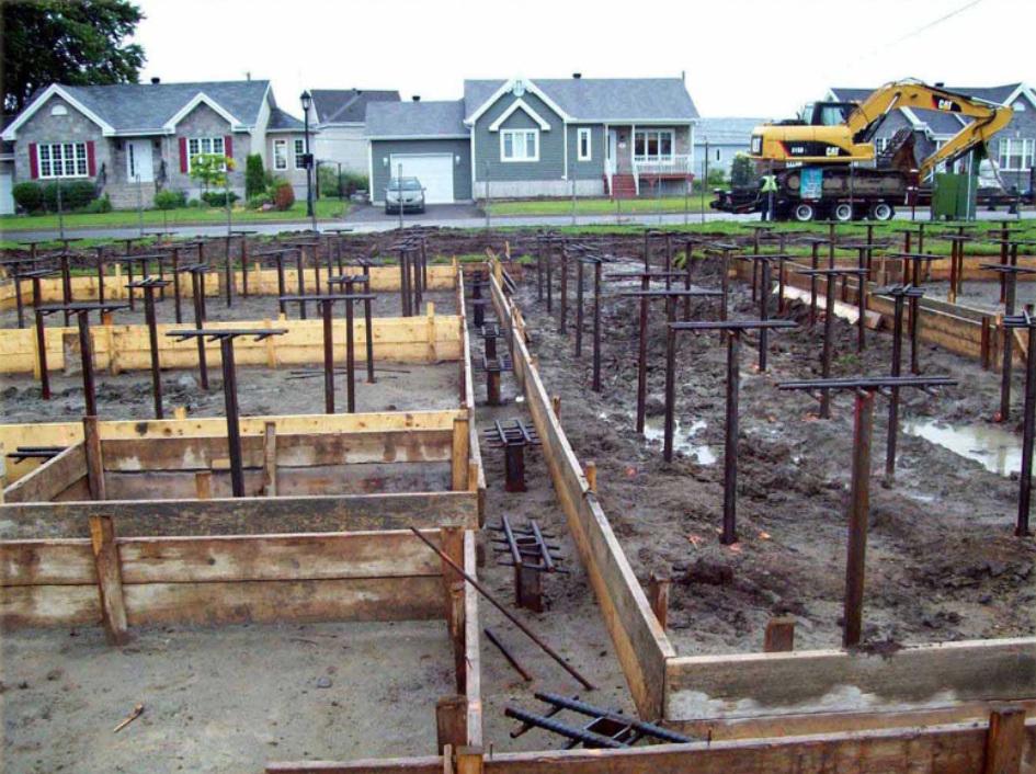 Preparing for the concrete pouring